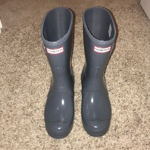 Gray Hunter Boots